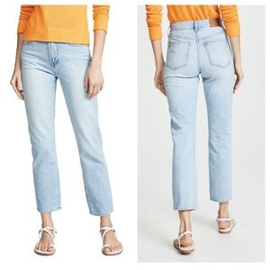 Madewell High Rise Light Wash ankle Cropped Jeans